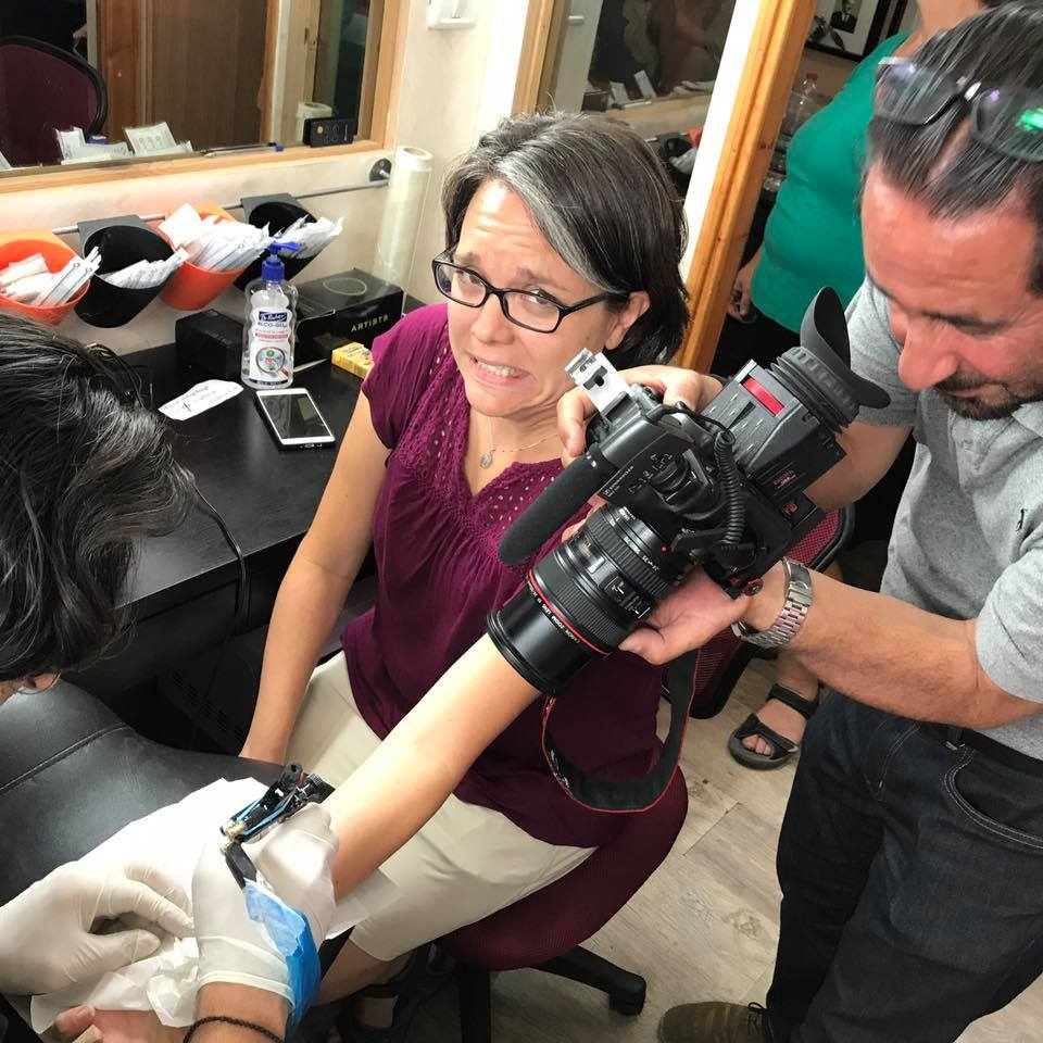 BBC filming my group getting tattooed.